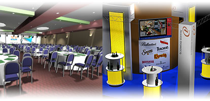 3D simulation of conference set  and exhibition stand