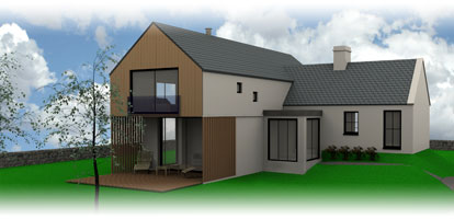 architectural visualisation of the new build housing project