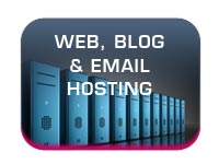 web hosting email and blog hosting services button image