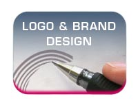 logo and brand design button image