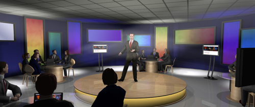 3D conference set visualisation